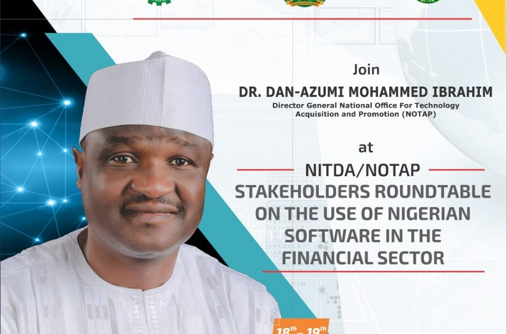 NOTAP NITDA CWG Plc Stakeholders Roundtable on the use of Indigenous Software in the Banking Sector